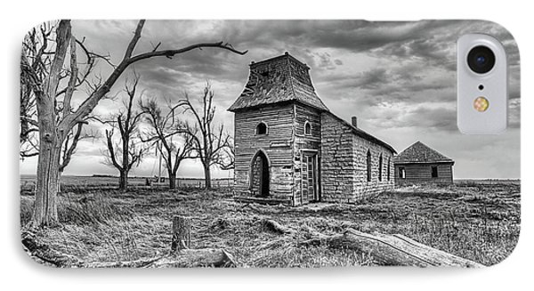 IPhone Case featuring the photograph That Old Time Religion Black And White by JC Findley