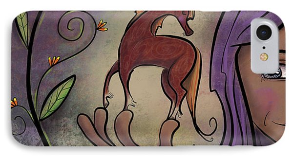 IPhone Case featuring the painting That Pony's A Hnadfull by Marti McGinnis