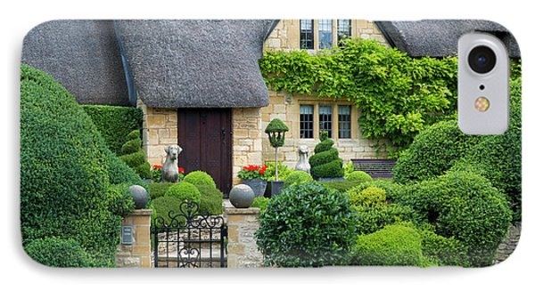 IPhone Case featuring the photograph Thatch Roof Cottage Home by Brian Jannsen