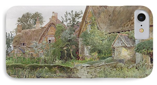 Thatched Cottages And Cottage Gardens Phone Case by John Fulleylove