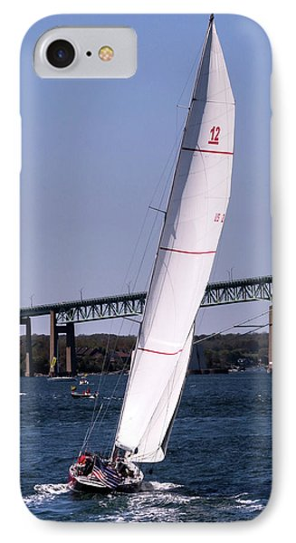 IPhone Case featuring the photograph The 12 Newport Rhode Island by Tom Prendergast