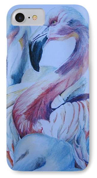 The 3 Flamingos IPhone Case