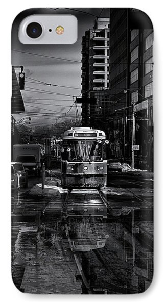 The 512 St. Clair Streetcar Toronto Canada Reflection Phone Case by Brian Carson