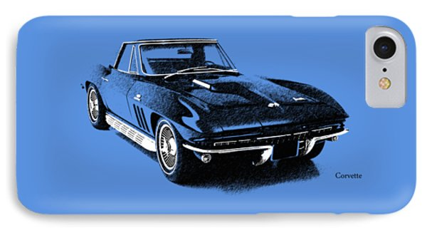 The 66 Vette IPhone Case by Mark Rogan