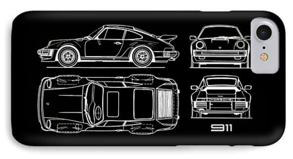 The 911 Turbo Blueprint IPhone Case