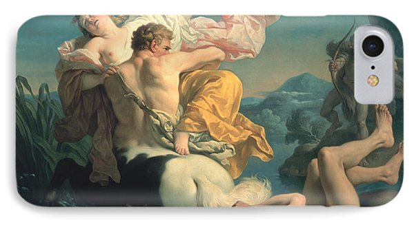 The Abduction Of Deianeira By The Centaur Nessus Phone Case by Louis Jean Francois Lagrenee