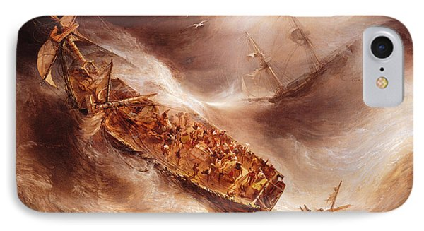The Act Of Sacrifice Made By Captain Desse Towards The Dutch Ship Columbus IPhone Case
