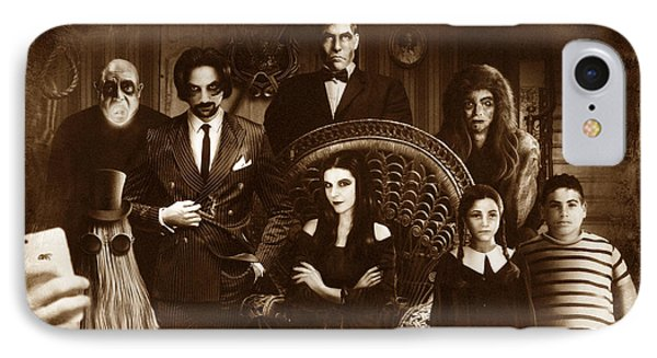 The Addams Family Sepia Version IPhone Case by Alessandro Della Pietra