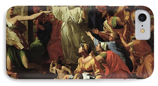 The Adoration Of The Golden Calf IPhone Case by Nicolas Poussin