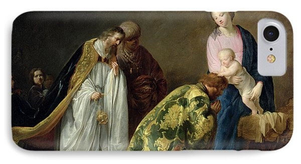 The Adoration Of The Magi IPhone Case by Pieter Fransz de Grebber