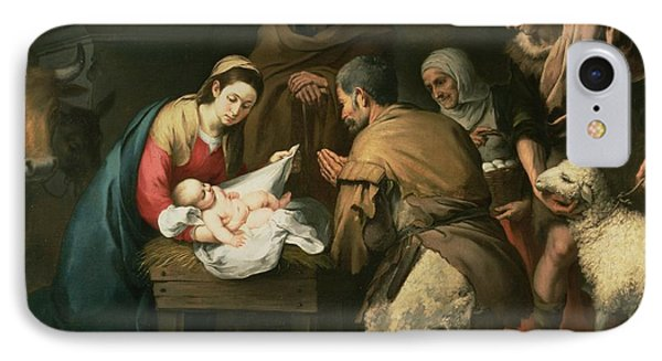 The Adoration Of The Shepherds IPhone Case by Bartolome Esteban Murillo