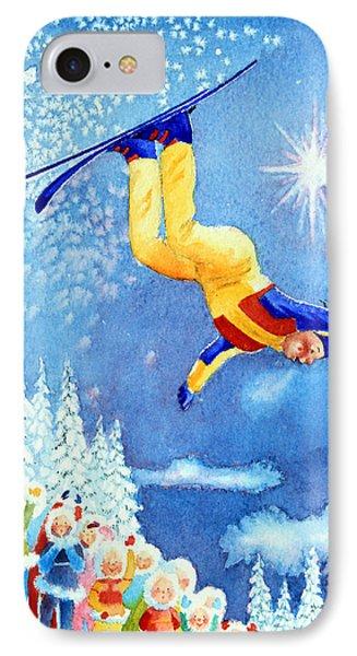 The Aerial Skier 18 Phone Case by Hanne Lore Koehler