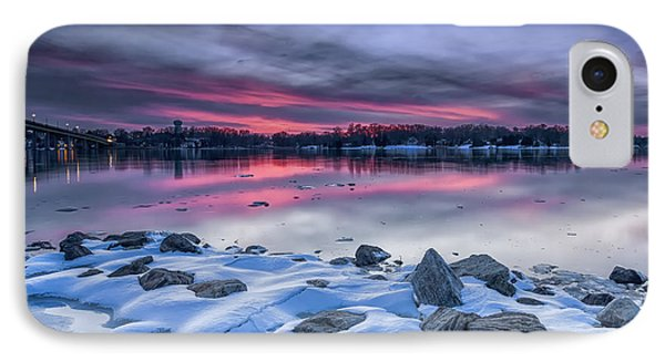 IPhone Case featuring the photograph The Afterglow by Edward Kreis