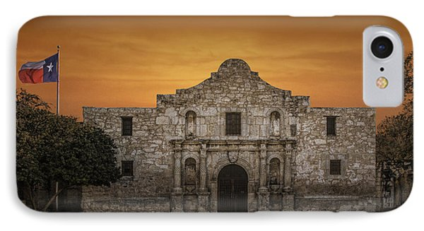 The Alamo Mission In San Antonio IPhone Case by Randall Nyhof