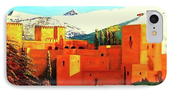 The Alhambra Of Granada IPhone Case by Manuel Sanchez