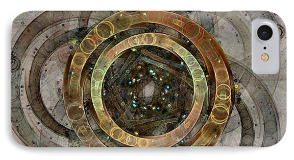 The Almagest - Homage To Ptolemy - Fractal Art IPhone Case by NirvanaBlues