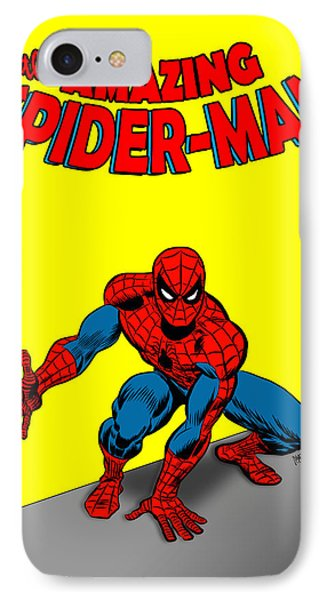 IPhone Case featuring the painting The Amazing Spider-man by Antonio Romero