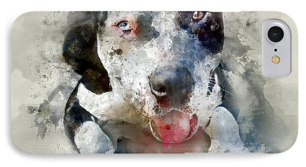 The American Pitbull IPhone Case by Jon Neidert