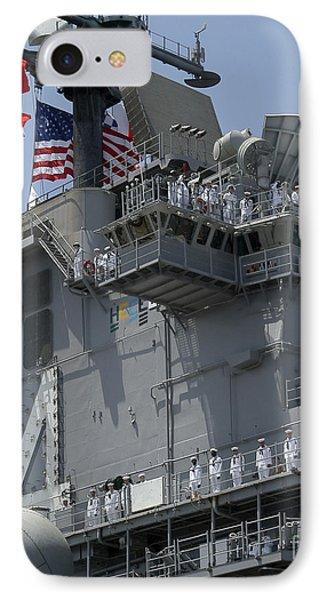 The Amphibious Assault Ship Uss Boxer Phone Case by Stocktrek Images