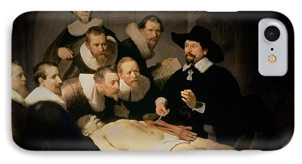 The Anatomy Lesson Of Doctor Nicolaes Tulp IPhone Case by Rembrandt Harmenszoon van Rijn
