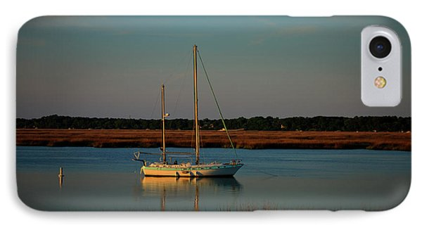 The Anchor Holds 2 Beaufort South Carolina Sailboat Art  IPhone Case