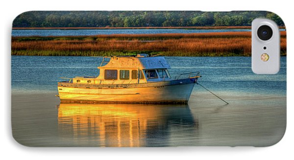 The Anchor Holds Beaufort South Carolina Boat Art IPhone Case