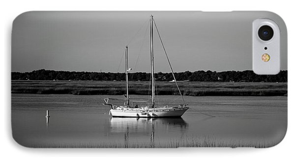 The Anchor Still Holds Beaufort South Carolina Sailboat Art  IPhone Case