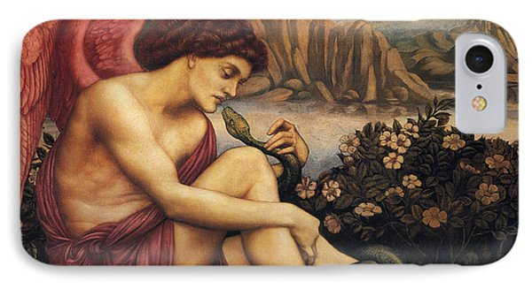 The Angel With The Serpent IPhone Case by Evelyn de Morgan