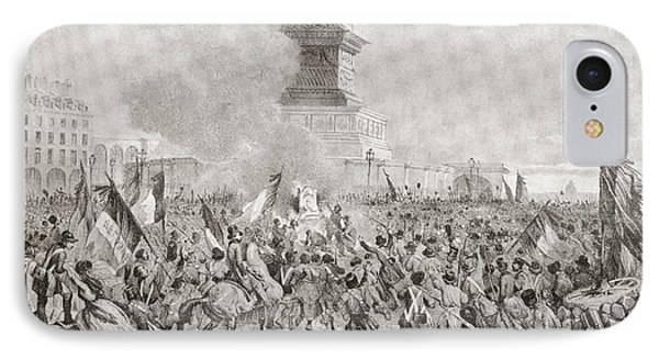 The Angry Paris Mob Burning The Royal IPhone Case by Vintage Design Pics