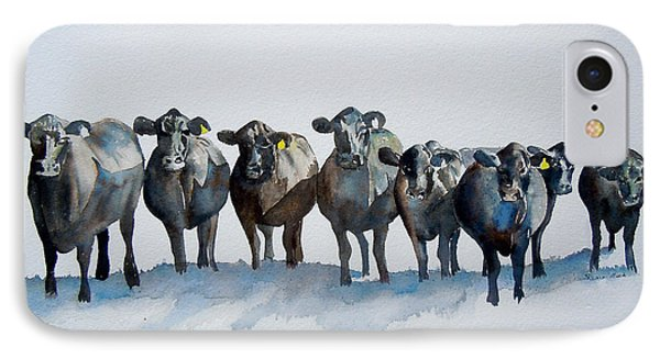 The Angus Eight IPhone Case by Sharon Mick