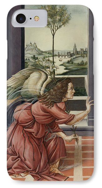The Annunciation After Botticelli IPhone Case by Yvonne Wright
