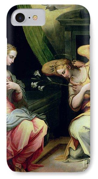 The Annunciation IPhone Case by Giorgio Vasari