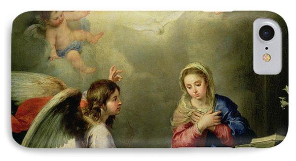 The Annunciation IPhone Case by Bartolome Esteban Murillo