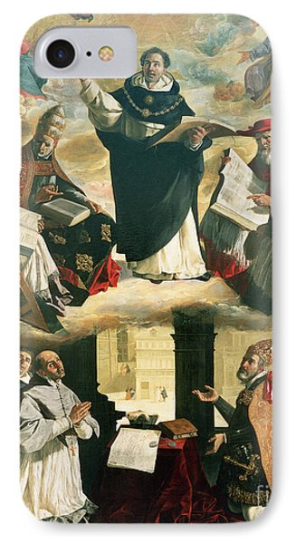 The Apotheosis Of Saint Thomas Aquinas IPhone Case by Francisco de Zurbaran