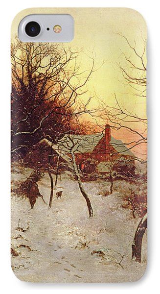 The Approach Of A Winter's Night IPhone Case by Edward Wilkins Waite
