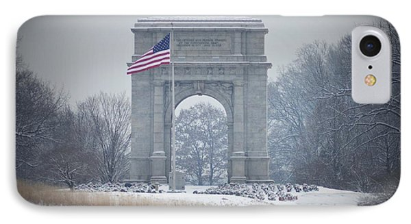 The Arch At Valley Forge IPhone Case by Bill Cannon