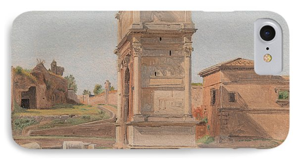 The Arch Of Titus In Rome, 1839 IPhone Case
