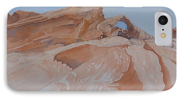 IPhone Case featuring the painting The Arch Rock Experiment - Vi by Joel Deutsch