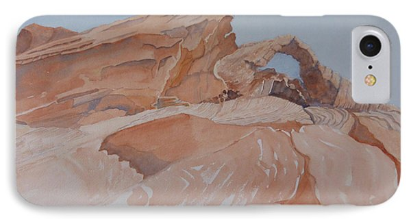 IPhone Case featuring the painting The Arch Rock Experiment - Vii by Joel Deutsch