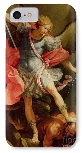 The Archangel Michael Defeating Satan IPhone Case by Guido Reni
