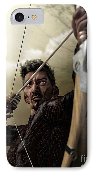 IPhone Case featuring the digital art The Archer by Sandra Bauser Digital Art