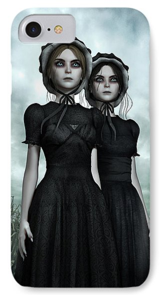 They Are Coming - The Halloween Twins IPhone Case by Britta Glodde