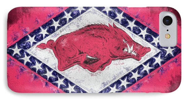 The Arkansas Razorbacks IPhone 7 Case by JC Findley