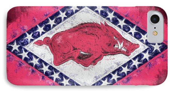 The Arkansas Razorbacks IPhone Case by JC Findley