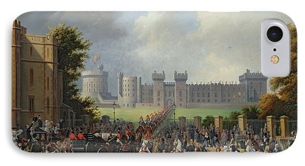 The Arrival Of Louis-philippe Phone Case by Edouard Pingret