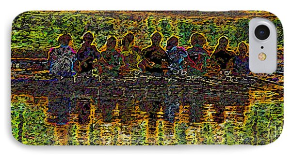 The Art Of Rowing IPhone Case by David Lee Thompson