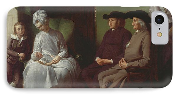 The Artist And His Family IPhone Case by Benjamin West