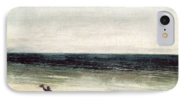 The Artist On The Seashore At Palavas Phone Case by Gustave Courbet