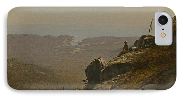 The Artist Sketching At Mount Desert Maine IPhone Case by Sanford Robinson Gifford