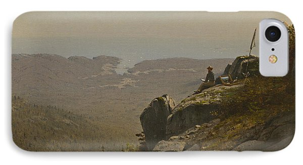 The Artist Sketching At Mount Desert IPhone Case